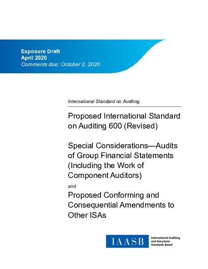 Proposed International Standard on Auditing 600 (Revised): Special Considerations -- Audits of Group